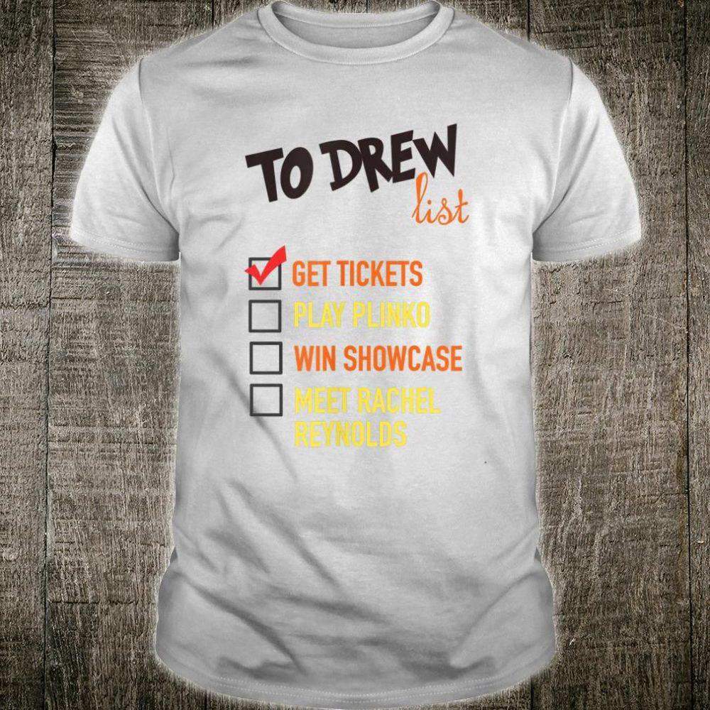 To Drew Bucket List Shirt