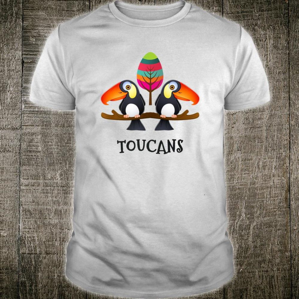 Toucans Cute and Colorful Tropical Bird Shirt