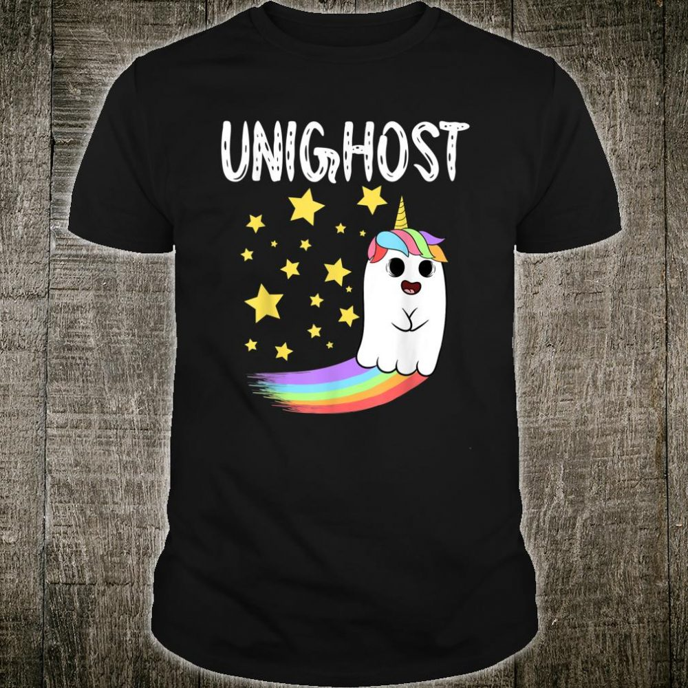 Unighost Halloween Party Magical Rainbow Unicorn Boo Shirt