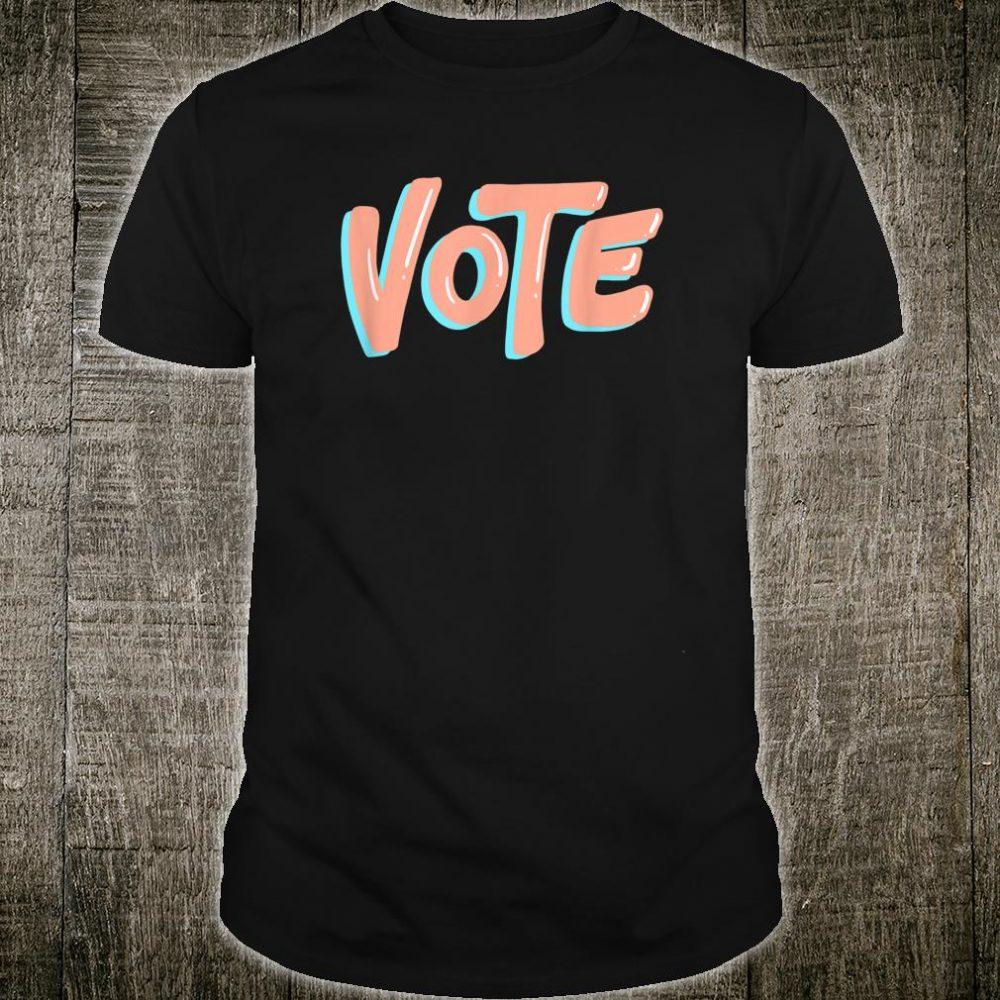 VOTE Unisex Retro Colorful Political Shirt