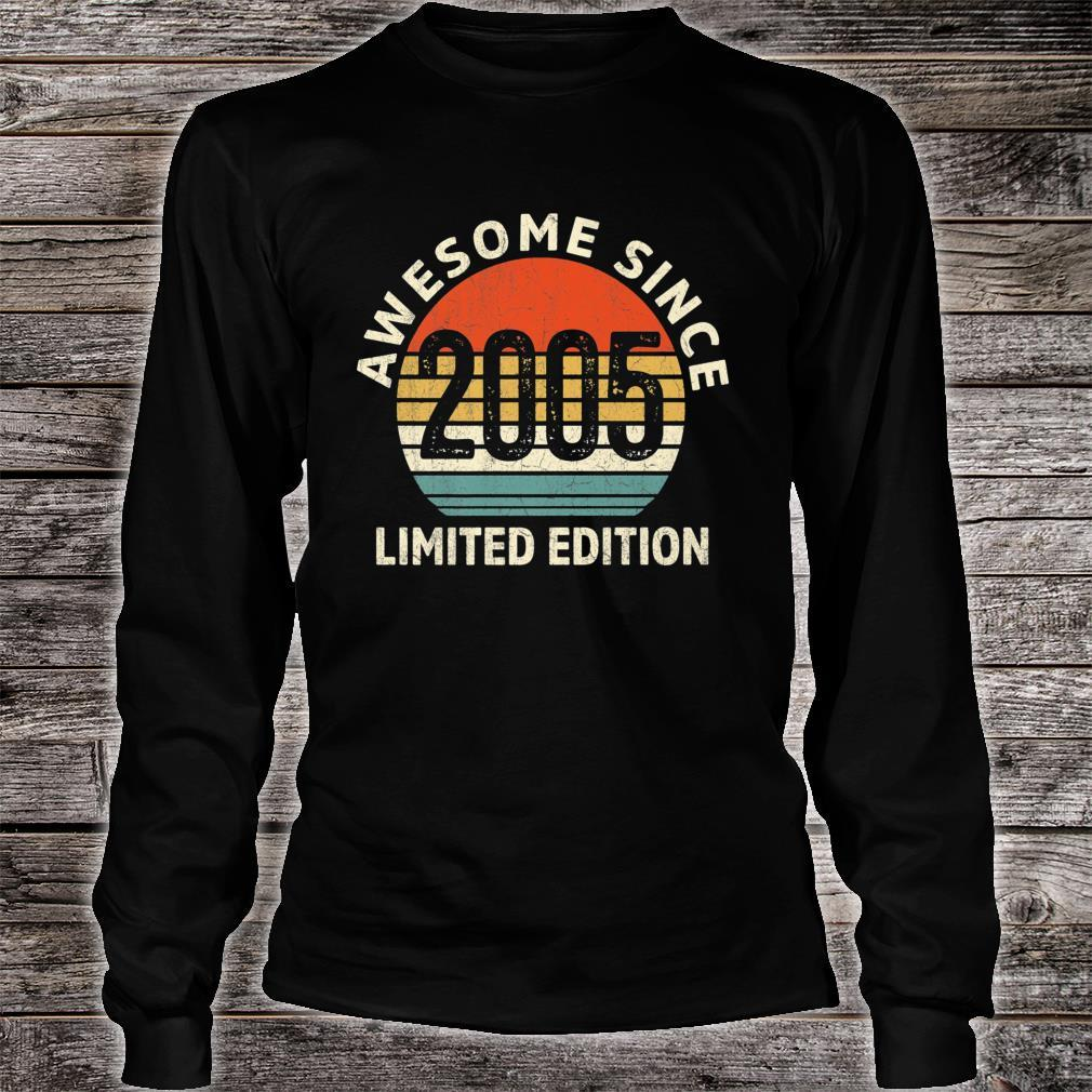 Vintage 2005 Limited Edition 16th Bday Shirt long sleeved